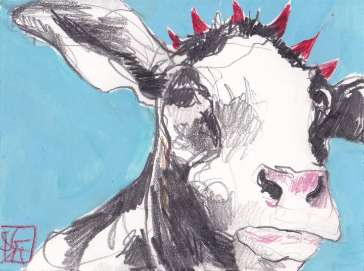 Kühe 7 - Punk Cow
